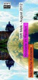 Sommerkonzerte 2012 - Stift Melk