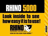 RHINO quick reference guide - DYMO