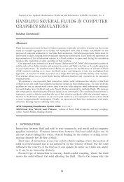 Journal of the Applied Mathematics, Statistics and Informatics