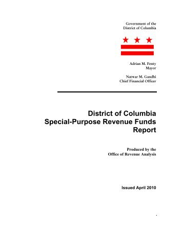 District of Columbia Special-Purpose Revenue Funds Report