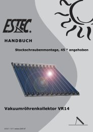 Montageanleitung VR14 Stockschraube 45 - Gerenda Solar