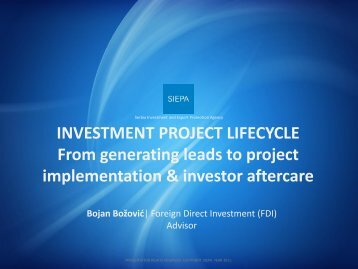 INVESTMENT PROJECT LIFECYCLE From generating ... - miepo
