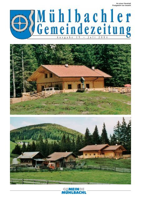 Gemeindezeitung Nr. 15 vom Juli 2004 - Mühlbachl - Land Tirol