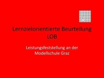 Lernzielorientierte Beurteilung LOB