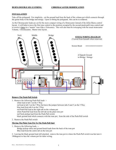 Burns Double Six 12 String Wiring Notes - Deaf EddieYumpu