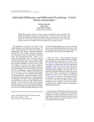 Differential - The Personality Project
