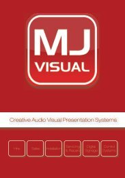 Download our brochure (PDF) - MJ Visual