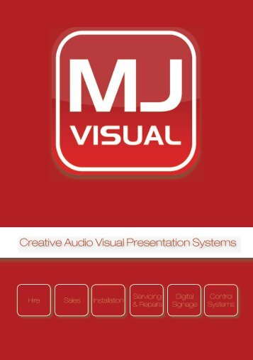 Download our brochure (PDF) - MJ Visual