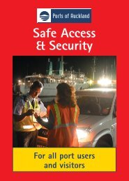 Safe access & security brochure - Ports of Auckland