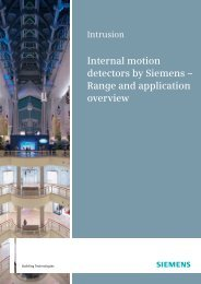 Internal motion detectors by Siemens - Security Products International