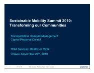 Session 11B - David Crowley - TDM Capital Regional ... - ACT Canada
