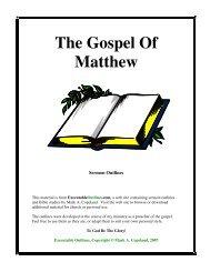 The Gospel Of Matthew - Executable Outlines