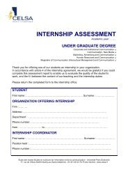 internship assessment - Celsa