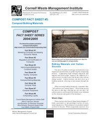 Compost Bulking Materials - Manure Management - Cornell University