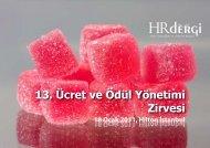 13. Ücret ve Ödül Yönetimi Zirvesi 18 Ocak 2011, Hilton İstanbul