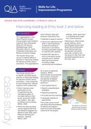 Improving reading at Entry level 2 and below - Skills for Life ...