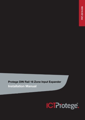 Protege DIN Rail 16 Zone Input Expander