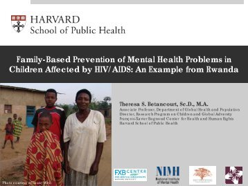 Presentation - Mental Health and Psychosocial Support Network