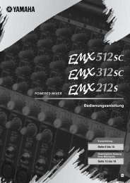 EMX512SC Owner's Manual - Yamaha