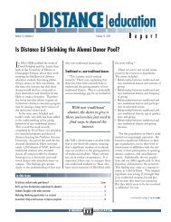 Is Distance Ed Shrinking the Alumni Donor Pool? - UC Irvine ...