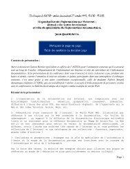 TEXTE DE LA PRÉSENTATION et principaux transparents