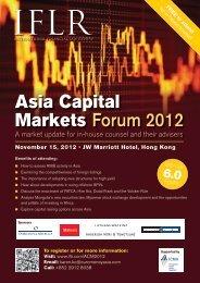 IFLR's Asia Capital Markets Forum - IFLR.com