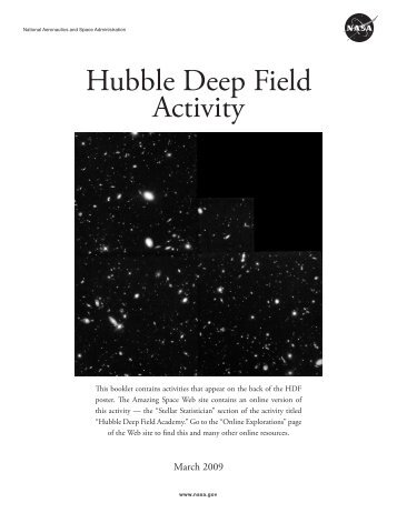 Hubble Deep Field Activity - Amazing Space - STScI