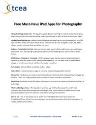 Free Must-Have iPad Apps for Photography - TCEA
