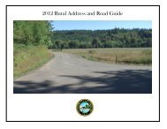 Road Guide to the Rural Address System - Clatsop County Oregon
