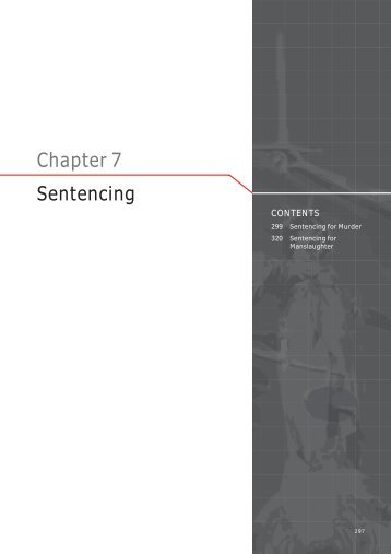 Chapter 7 Sentencing - Law Reform Commission of Western Australia