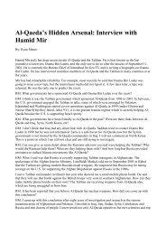 Al-Qaeda's Hidden Arsenal: Interview with Hamid Mir