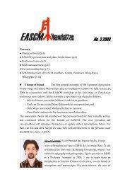 EASCM Newsletter 3 - Zentrum für Ostasienwissenschaften