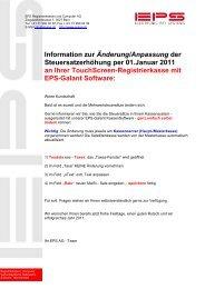 Information zur Änderung/Anpassung der ... - EPS AG (Bern)