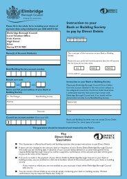Direct Debit - Elmbridge Borough Council