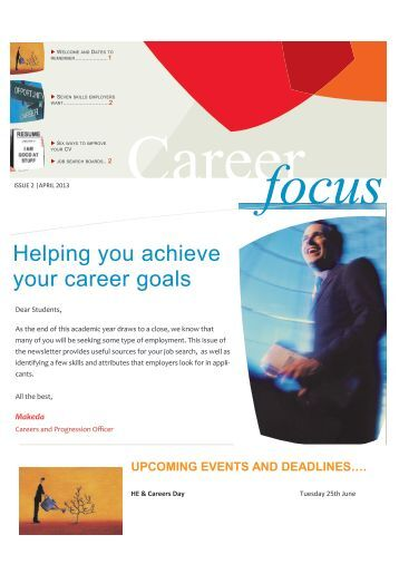 how can we help you meet your career goals