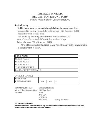Refund or credit request form city of sandpoint request for refund form altavistaventures Images