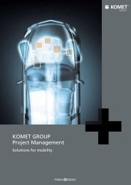 Project Management - Solutions for mobility - Komet Group