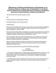 Memorandum of Understanding for the Implementation of Technical ...