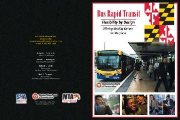 State of Maryland BRT Brochure - Bus Rapid Transit Policy Center
