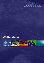 Broschüre Wetterstation deutsch V600 A4.indd - Teletrend AG
