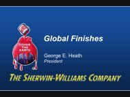 Global Finishes - Sherwin-Williams