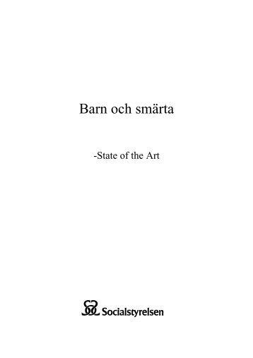 State of the Art - barn och smärta. - Svensk Barnsmärtförening