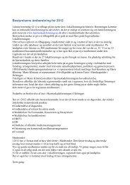Bestyrelsens årsberetning for 2012 - Hjerneskadeforeningen