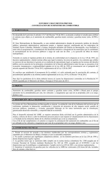 ESTUDIOS Y DOCUMENTOS PREVIOS CONTRATACION DE ...