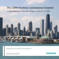 The 2008 Siemens Automation Summit