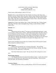 ALPS EXECUTIVE COUNCIL MEETING JANUARY 4, 2008 ...