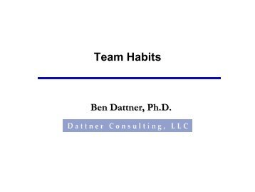 Team Habits - Dattner Consulting
