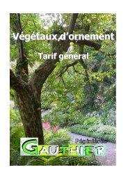 tarif général 2012/2013 plantes d'ornements - pepinieres-gauthier.fr
