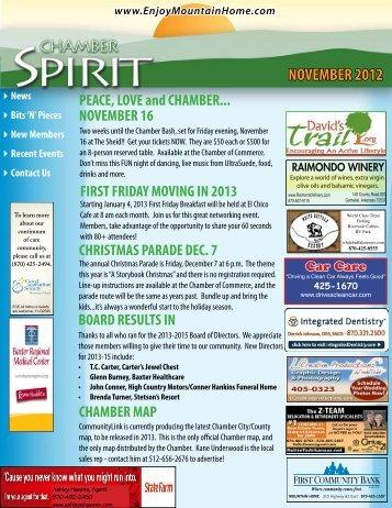 NOVEMBER 2012 - Mountain Home Chamber of Commerce