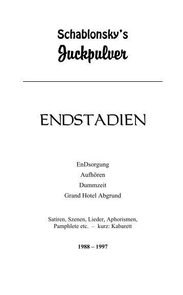 Schablonsky´s Juckpulver® - Das Buch - Marx, Ruge und Holzhauser